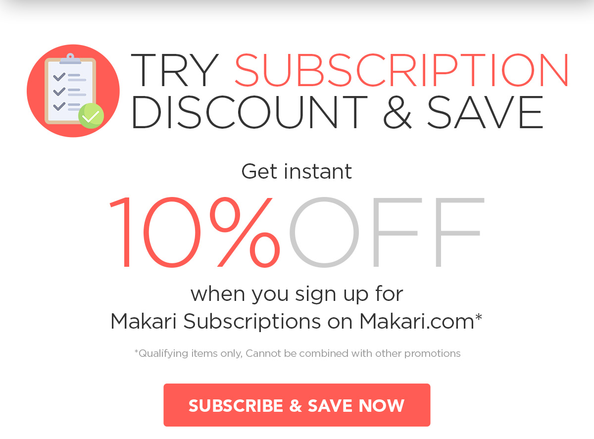 Try Subscription Discount & Save - 10%OFF